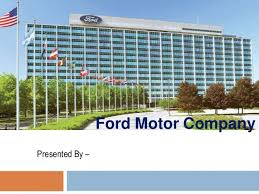 ford corporate presentation on ford motor company pom