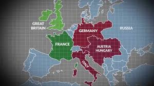 World War I Alliances Map by 5 Major Treaties U0026 Alliances In The Build Up To World War One
