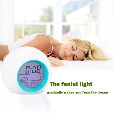 alarm clock that wakes you up in light sleep 1pc kids digital alarm clock led wake up led light 7 color