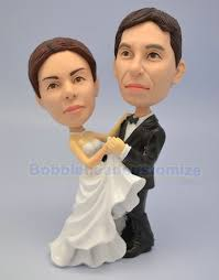 cake toppers bobblehead wedding cake toppers custom bobblehead wedding bobbleheads