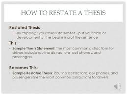 restate thesis english composition five paragraph essay structure ppt download