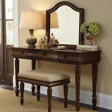 Bedroom Vanity Sets With Lights Furniture Curved Brown Wooden Vanity Set With Lights And Curved