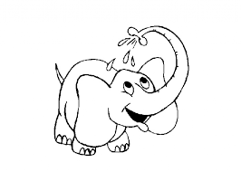 ba elephant coloring pages getcoloringpages baby elephant