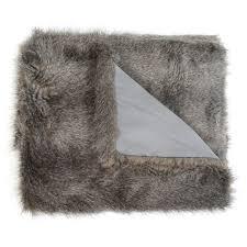 Fake Fur Throws Heal U0027s Long Faux Fur Throw Grey