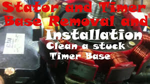 how to repace an outboard stator and timer base youtube