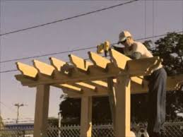 How To Attach A Pergola To A Deck by How To Build A Pergola Youtube