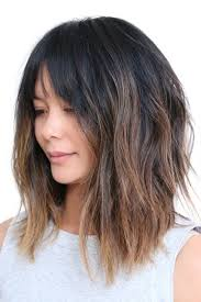 med choppy haircut pictures long choppy brown bob with highlights hair world magazine