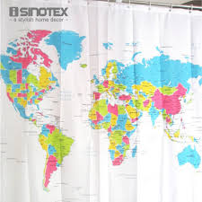 popular world map curtain buy cheap world map curtain lots from shower curtain world map pattern creative shower curtain bathroom waterproof polyester fabric 180 180cm
