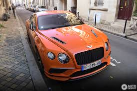 orange bentley bentley continental supersports coupé 2018 20 november 2017