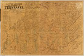 Map Of Tennesse Lloyd U0027s Official Map Of The State Of Tennessee David Rumsey