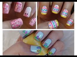 easter nail art three cute u0026 easy tutorials youtube