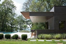free float a modern pool house in sands point new york design milk