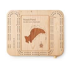 custom lake art cribbage board vacation board games uncommongoods