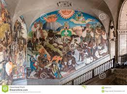 El Mural by Palacio Nacional Y El Mural Famoso La Leyenda De Quetzalcoatl Y La