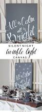 How To Make Christmas Light by Silent Night Twinkle Light Canvas Love Grows Wild