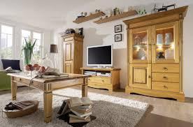Wohnzimmerschrank Nordisch Wohnwand Anbauwand Schrankwand Kiefer Massiv Patiniert 5 Teilig