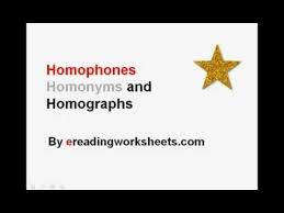 free homonyms worksheet students will cut and paste homonyms to