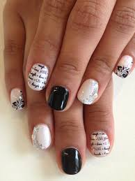 black u0026 white nails in bio sculpture gel colours 2017