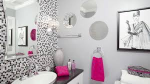 awesome bathroom ideas stunning decor of girls bathroom ideas with polkadot background