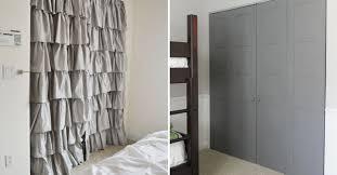 Curtain As Closet Door 18 Closet Door Makeovers That U0027ll Give You Closet Envy