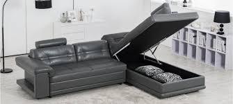 canap d angle cuir gris anthracite prix fous sur nos canapés design