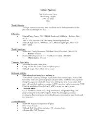Busser Resume Sample by Sample Machinist Resume Resume Formt U0026 Cover Letter Examples