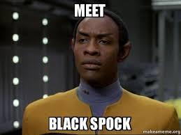 Spock Memes - meet black spock skeptical vulcan make a meme