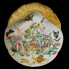 mandarin porcelain canton mandarin porcelain shrimp dish ca 1840