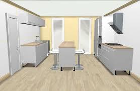 cuisine implantation cuisine blanche parallele avec ilot newsindo co