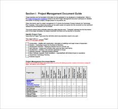 project management plan template 9 free word pdf excel