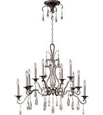 Maxim Chandeliers Maxim 14307hr Chic 10 Light 18 Inch Heritage Multi Tier Chandelier
