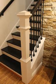 step by step tutorial on how to remodel a carpeted staircase into