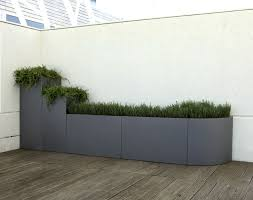 stainless steel planter rectangular modular contemporary