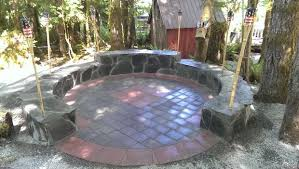 Stone Patio With Fire Pit How To Make A Stone Patio Fire Pit 6 Steps With Pictures
