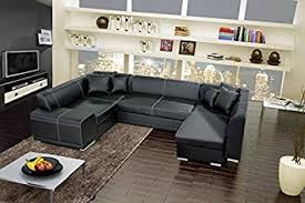 sofa bed with storage box verani bis large black double ended corner sofa bed with 2 storage