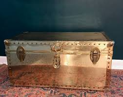 Vintage Trunk Coffee Table Steamer Trunk Coffee Table Etsy