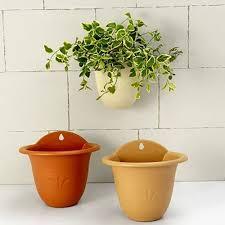 Planter Pot Living Wall Planter Beige Tangerine Light Brown Roman Style Wall
