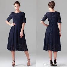 tea length dress vintage navy tea length dresses with sleeves a line lace