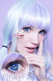 light blue cosplay contacts vassen lollipop blue circle lenses colored contacts pinkyparadise