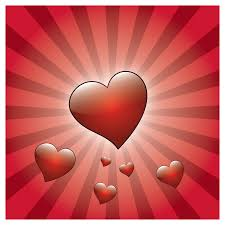 free valentine heart with rays vector graphic free vector 4vector