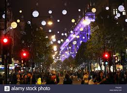 Christmas Decorations Oxford Street - london uk 1st november 2015 switching on oxford street