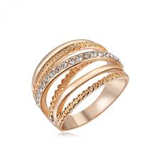 wedding ring brand roxi brand women ring gold color finger engagement rings for