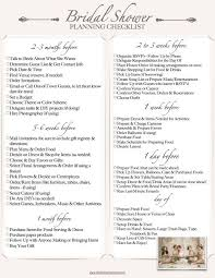 preparation of event plan for wedding the bridal shower checklist events treats