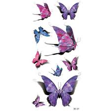 tatoo 3d purple designs pastel 3d butterfly