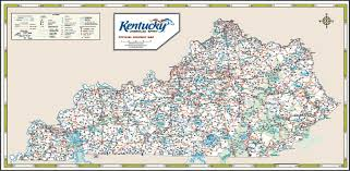 kentucky map kentucky road map map throughout of counties lapiccolaitalia info