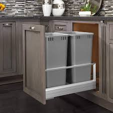 Kitchen Cabinet Trash Can Pull Out Decorating Unusual Pull Out Trash Can Best Trash Container