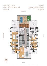 noura tower al habtoor city floor plan