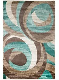 Area Rugs With Turquoise And Brown Summit 60 Turquoise Brown Geometric Area Rug Buy Rite Rugs