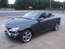 lexus is350 convertible wrecked 2010 lexus is is350 convertible rebuildable for sale