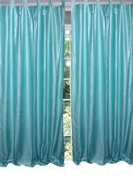 moroccan window treatment sky blue curtain drape bedroom panel